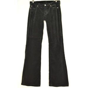 7 for all Mankind jeans 27 x 32 velveteen black sl